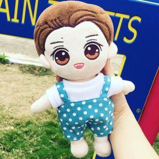 Set yếm Chấm Bi Xanh [Outfit For Doll Kpop 20cm ]