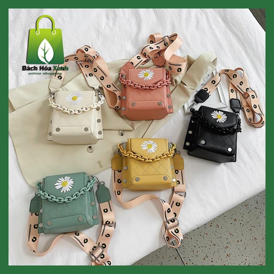 Túi xách nữ hoa cúc cao cấp đeo chéo đẹp giá rẻ thời trang BH049