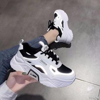Giày nữ giày sneaker phong cách có dạ quang phát sáng full size 35_39 đế cao 5cm(m8916)