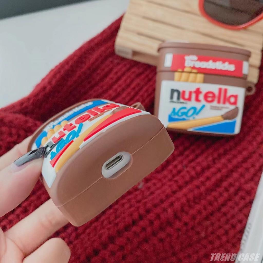 Vỏ bảo vệ hộp sạc tai nghe Airpods 2 1 pro 3 chất liệu silicon mềm hình hũ socola 3D đáng yêu