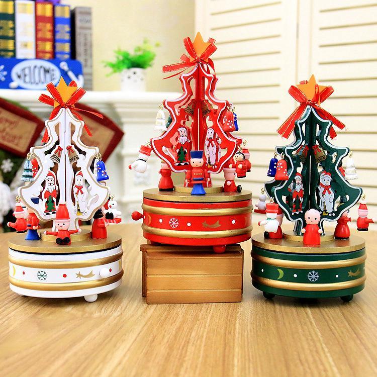 Rotating Music Christmas Tree Christmas Gift Music Box Indoor Decoration