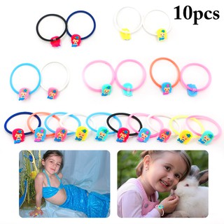 10PCS Christmas Wristband Mermaid Silicone Party Wristband Party Favors for Kids