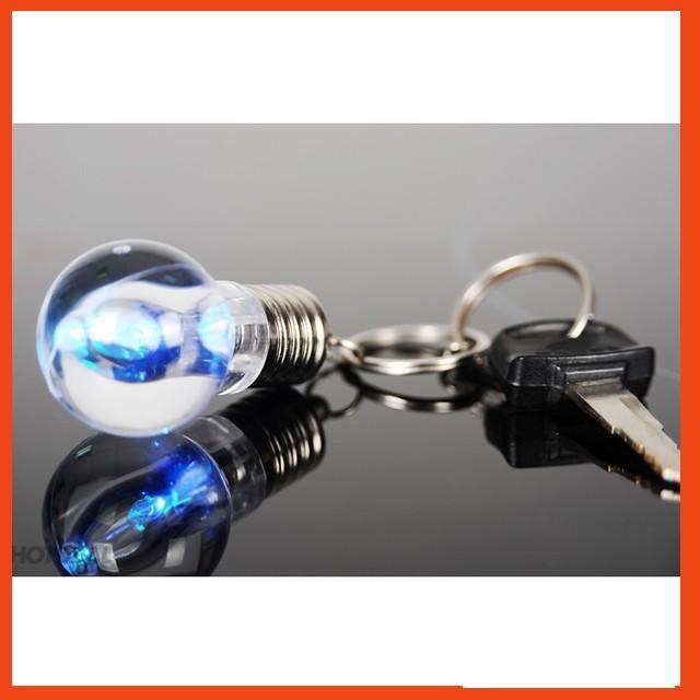 HÀNG HOT Móc khóa bóng đèn sáng trang trí chùm chìa khóa không bị vỡ led 7 màu MỚI VỀ