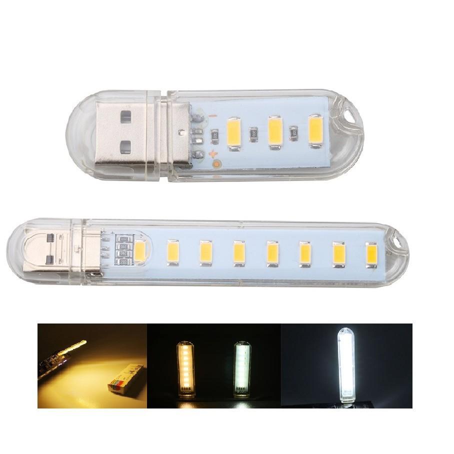 Đèn led cổng usb gồm 3/8 bóng đèn led 5V tiện dụng khi đọc sách/ cắm trại