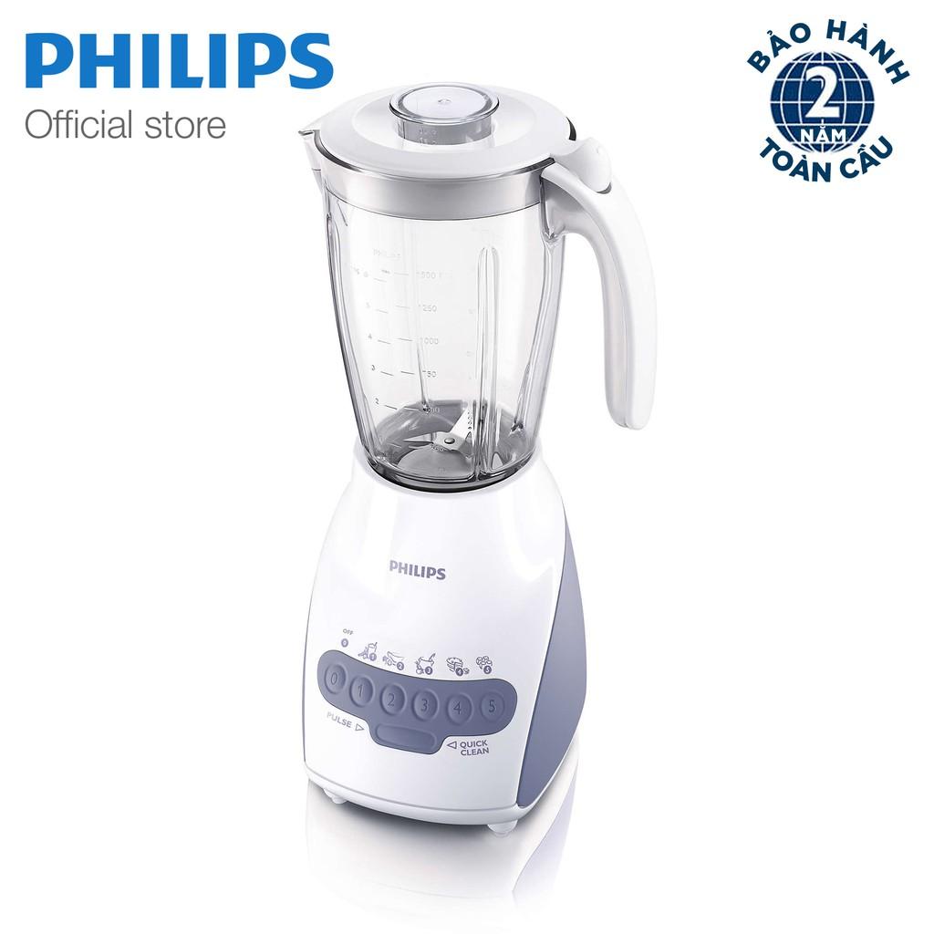 Máy xay sinh tố Philips HR2118 (Trắng Xanh)
