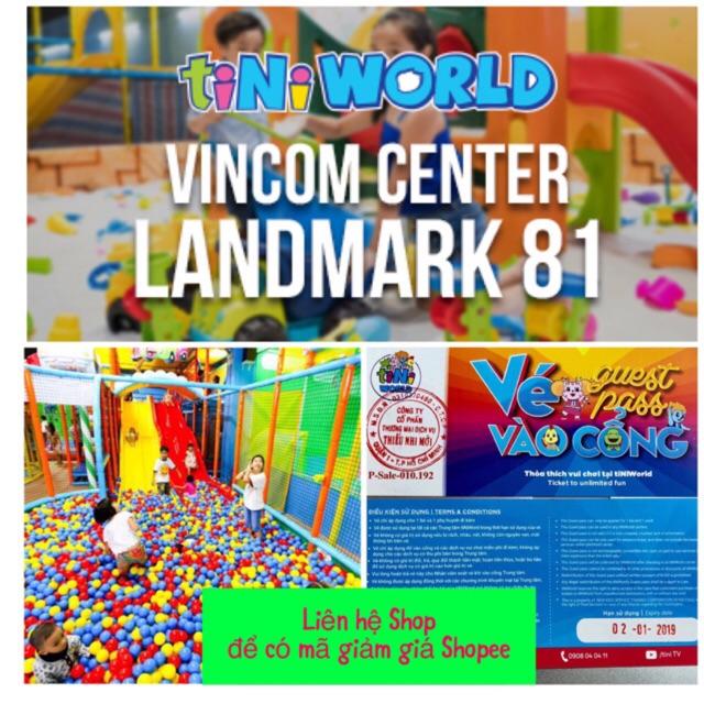 Toàn quốc [Voucher] 30 vé vào cổng và vui chơi tại tiNiWorld giảm giá sốc - Áp dụng cả cuối tuần và Lễ Tết ko phụ thu
