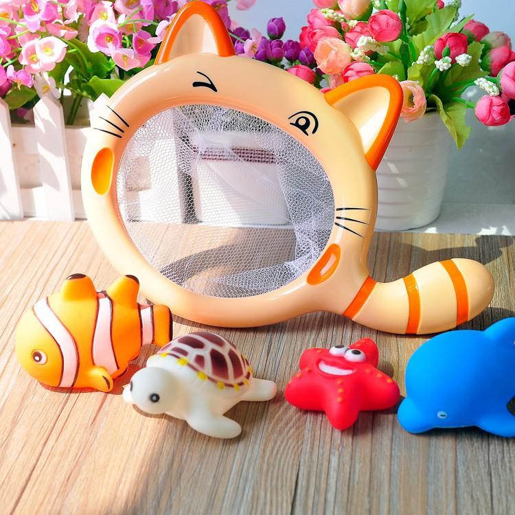 Bộ đồ chơi mèo vớt cá dễ thương cho bé