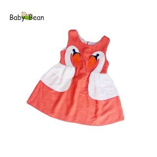 Đầm Đũi Thêu 2 Thiên Nga bé gái BabyBean