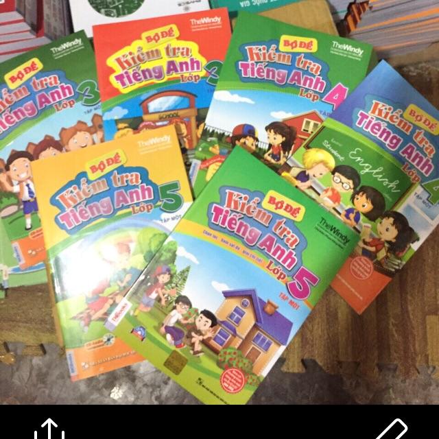 Combo 6 cuốn bộ đề kiểm tra tiếng anh lớp 3,4,5 ( tập 1+2 )