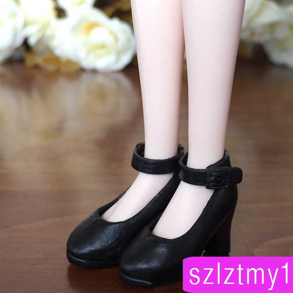 BeeBox Mini Black Doll Shoes High-heeled Shoes 1/6 BJD Dolls Clothing Accessory