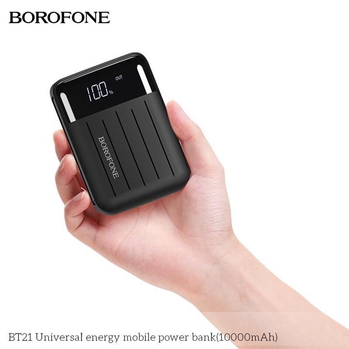 Sạc Dự Phòng Borofone Model BT21 Màn Hình LCD 2 USB Có Đèn Pin Dung Lượng  10000mAh | Shopee Việt Nam