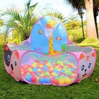 🌸 LỀU BÓNG KÈM 100 BÓNG Với chiếc lều bóng này bé có thể tha hồ vui chơi cùng bạn bè, anh chị ở tại nhà hay công viên.