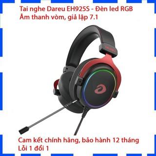 Tai nghe chụp tai Gaming DareU EH925S 7.1 Led RGB/Âm thanh vòm, giả lập/Chính hãng BH 12 tháng