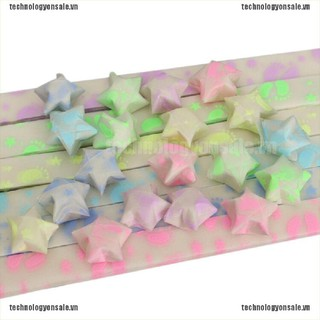[Tech] 30 Strips Folding Lucky Wish Stars Origami Paper Ribbon Fluorescence [VN]