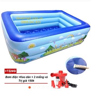 Bể bơi trong nhà 2m1 giá rẻ tặng kèm bơm điện (or diều thả or vỉ câu cá )