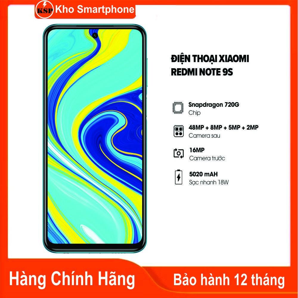 Điện thoại Xiaomi Redmi Note 9S (4GB/64GB) - HÀNG CHÍNH HÃNG