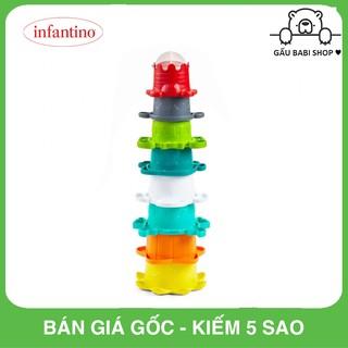 Bộ cốc xếp chồng kết hợp đồ chơi tắm Infantino 205039