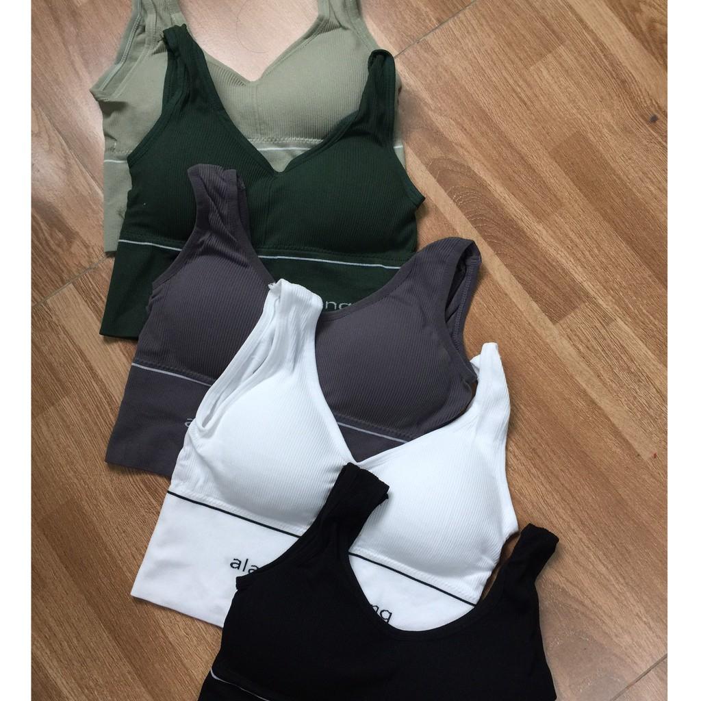 Mặc gì đẹp: Năng động với Áo tập yoga, gym, zumba, dệt kim, hàng quảng châu cao cấp, Dolobikini, 43 tới 60kg