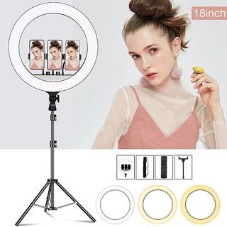 [Đèn livestream size 45cm] hỗ trợ bán hàng, make up kèm gậy 2m1 với 3 chế độ sáng