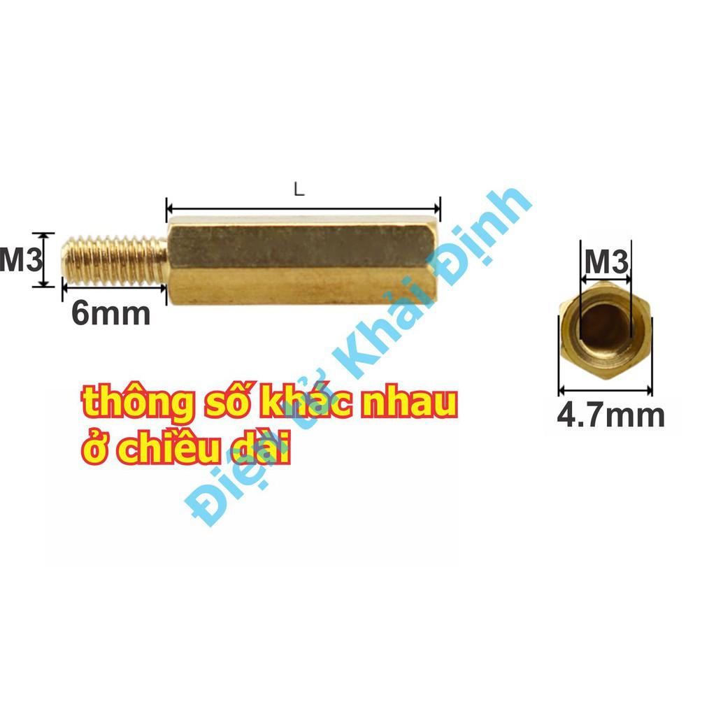 [HỦY DIỆT] Cọc Đồng M3 ĐẦU ĐỰC, ĐẦU CÁIđầu vặn ốc dài 6mm, kích thước 5/6/8/10/12/15/18/20/25/30/35/40/45/50mm kde0534 Giá chỉ 46.200₫