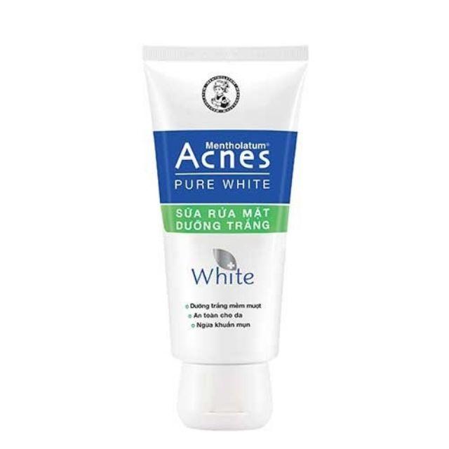 Sữa rửa mặt dưỡng trắng an toàn cho da ngừa khuẩn mụn Acnes Pure White 100g - 14246481 , 2450013336 , 322_2450013336 , 50000 , Sua-rua-mat-duong-trang-an-toan-cho-da-ngua-khuan-mun-Acnes-Pure-White-100g-322_2450013336 , shopee.vn , Sữa rửa mặt dưỡng trắng an toàn cho da ngừa khuẩn mụn Acnes Pure White 100g