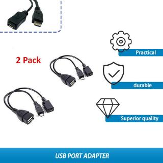 Yêu ThíchPK 2 PCS Usb Port Terminal Adapter Otg Cable For Fire Tv 3 Or 2nd Fire Stick