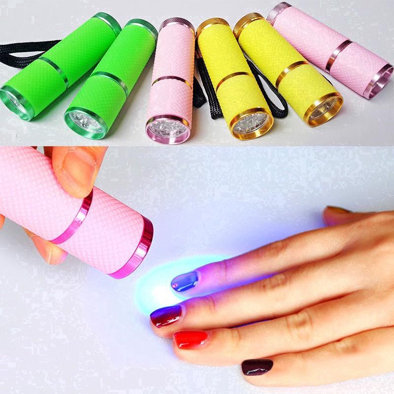 Nail Lamp Mini Light Gel Curing Portable Dryer LED Flashlight