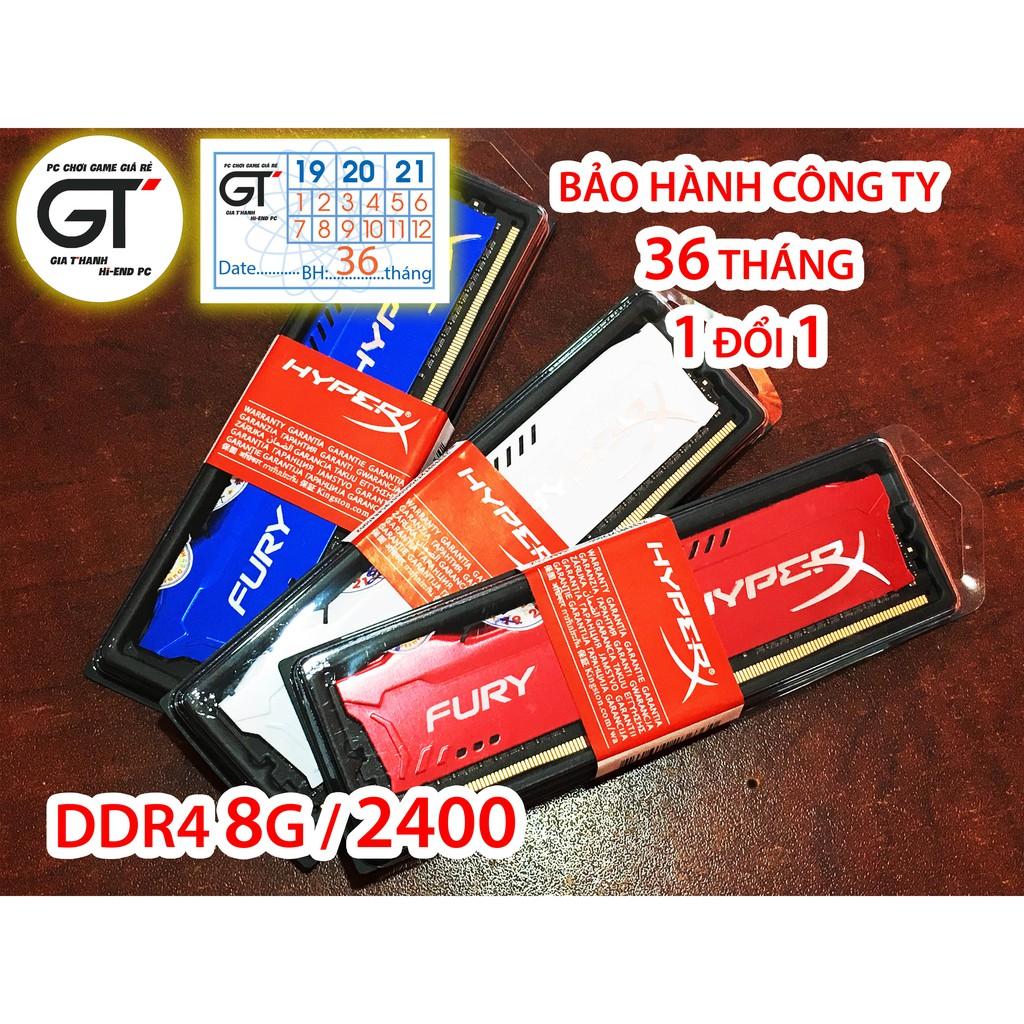 Ram Kingston HyperX Fury 8GB DDR4 Bus 2400Mhz