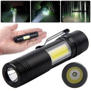 Đèn Pin Mini Bằng Hợp Kim Nhôm Cổng Sạc Usb