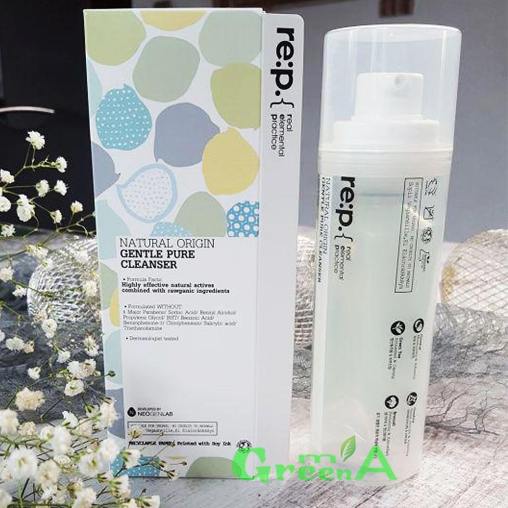 Sữa Rửa Mặt RE:P Thảo Mộc Organic Tự Nhiên Cấp Ẩm Sạch Sâu RE:P NATURAL ORIGIN GENTLE PURE CLEANSER  150ML