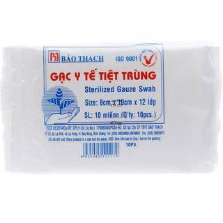 ( -5% LN cho quỹ Vacxin) Gạc y tế tiệt trùng Bảo Thạch 5x5cm, 5x6,5cm, 8x10cm (10 miếng gói) Đông Anh Pharma thumbnail