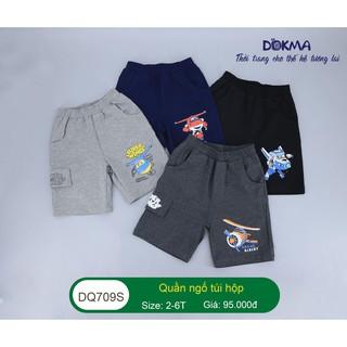 [Mã FASHIONXANH264 giảm 10K đơn 50K] (2-6Y) Quần ngố túi hộp vải cotton cho bé – DOKMA