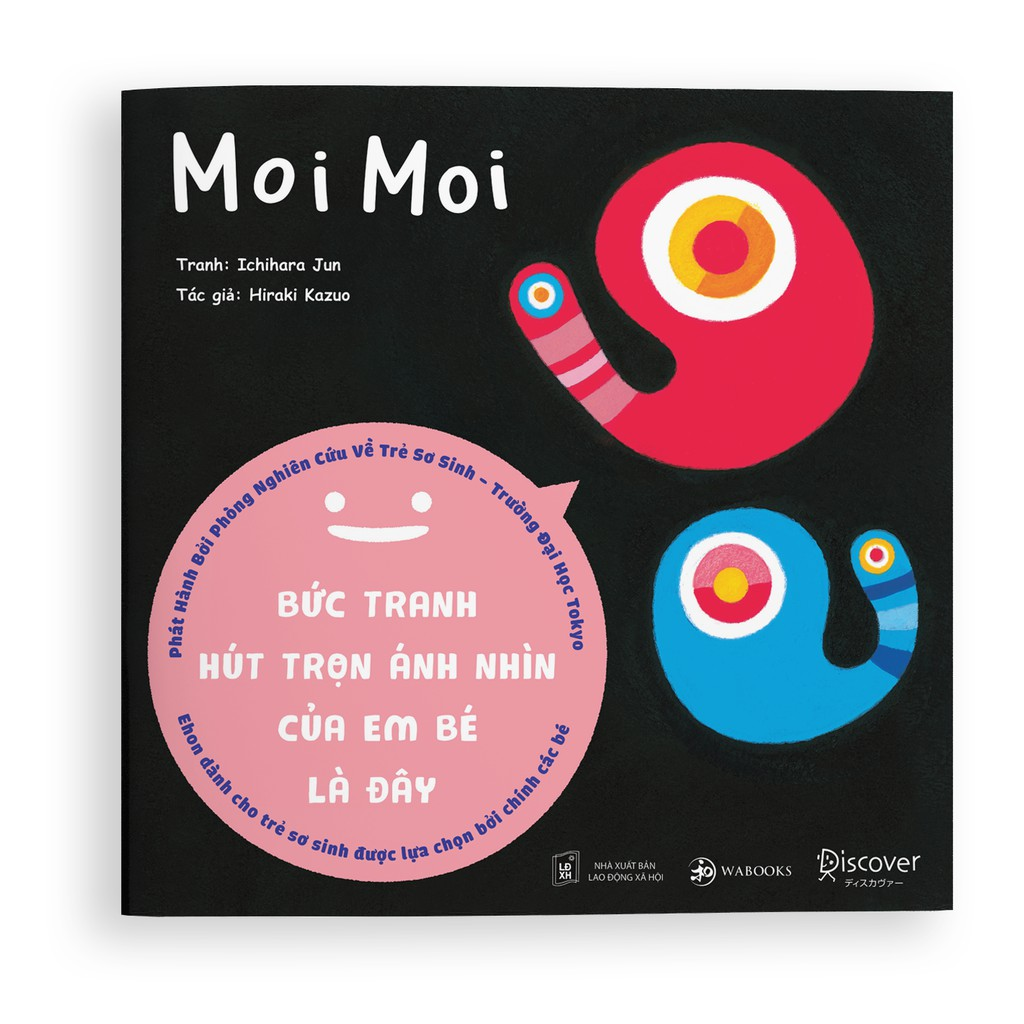 Sách Ehon - Moi Moi - Giúp các em bé ngừng khóc - Ehon Nhật Bản cho trẻ sơ sinh