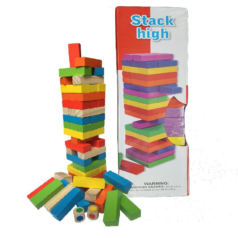 Trò chơi rút gỗ màu cơ bản loại to 30cm
