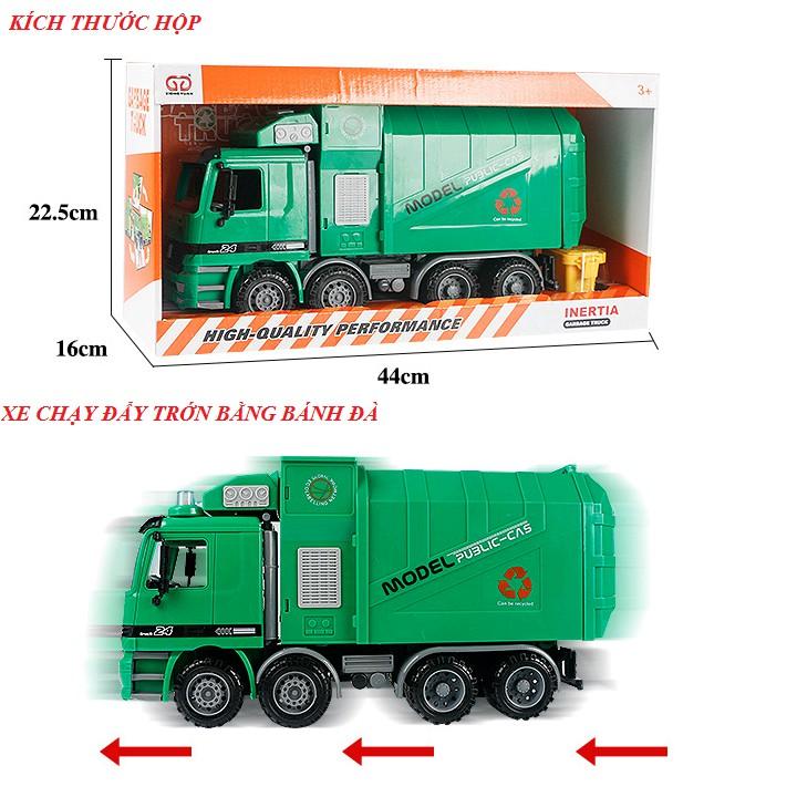 Mô hình xe chở rác cao cấp (siêu to có âm thanh)
