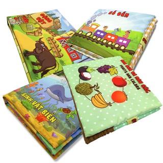 Bộ sách vải giáo dục sớm Pipovietnam (Động vật + Hoa quả + Số đếm+ Sinh vật biển)