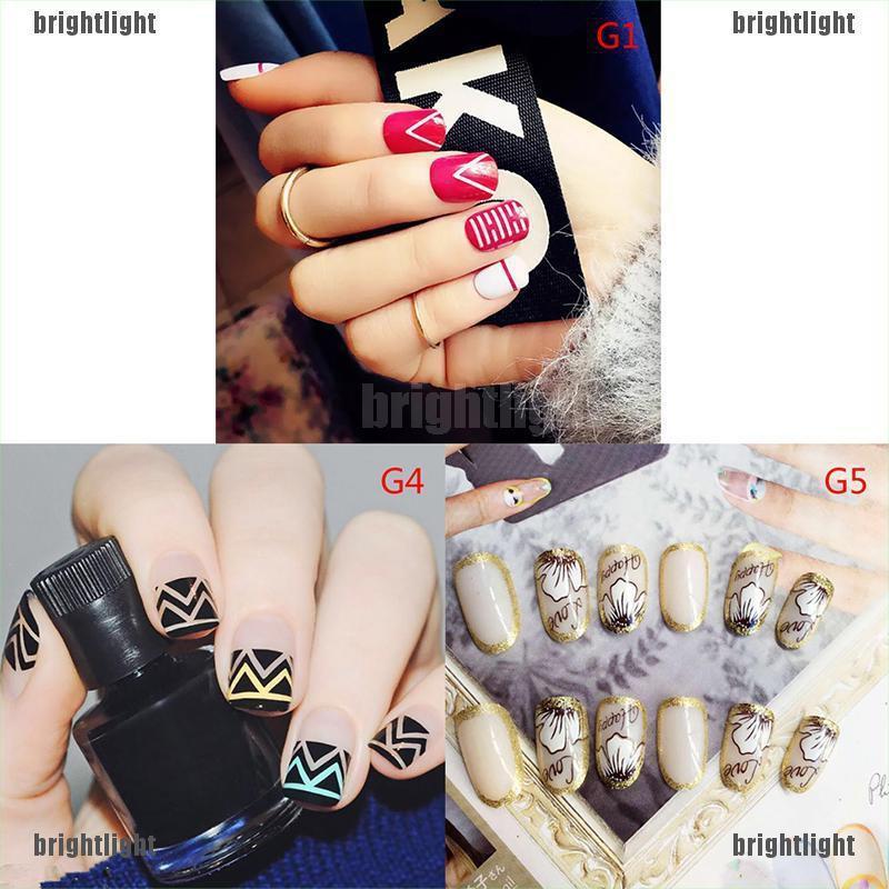 [Bright] 24*Charm acrylic false fake artificial toe nails tips nail art college style [Light]