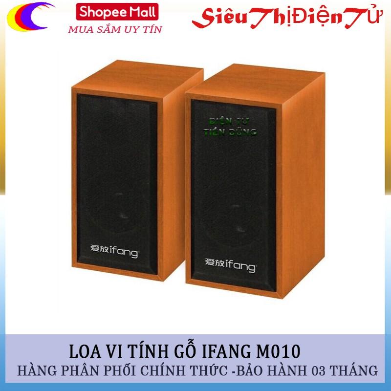 Loa vi tinh loa gỗ mini loa ifang m010- loa mini