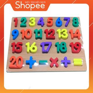 Bảng 20 số cộng trừ nổi cho bé vừa học vửa chơi bằng gỗ Vivitoys.