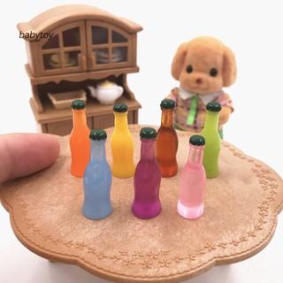 [Baby]7Pcs/Set Cocktails Cola Drink Wine Bottle Miniature Model Dollhouse Accessories