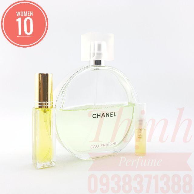 Nước Hoa Nữ Chance Chanel EAU Fraiche Chiết 9ml ( 100% Authentic )
