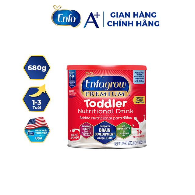 Sữa Bột Enfagrow Premium Toddler Hương Sữa Tự Nhiên (680g)