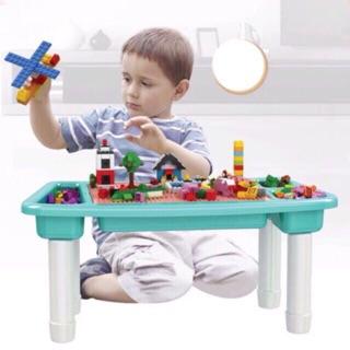 [HOT] Hộp Đồ Chơi Lắp Ráp Xếp Hình Lego Có Kèm Bàn Cao Cấp Dành Cho Bé