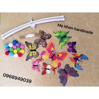 Bộ nguyên liệu treo nôi bướm chuyển động kích thích thị giác Montessori