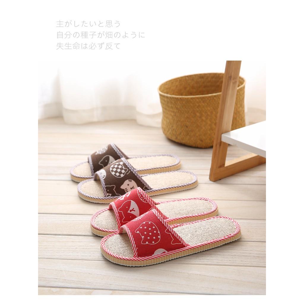 Dép đi trong nhà / công sở/ đi chơi, phong cách Nhật Bản, họa tiết mèo DE01