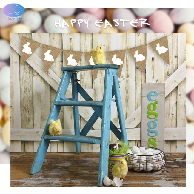 2.5M Sold Color Rabbit Pattern Hanging String for Easter Party Decor Photo Props