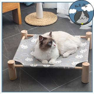 [Rẻ Vô Địch] Giường Gỗ Dành Cho Chó Mèo,Giường Võng Trên Cao Với Vải Canvas Thoáng Mát Cả Đông Lẫn Hè Phong Cách Nhật thumbnail
