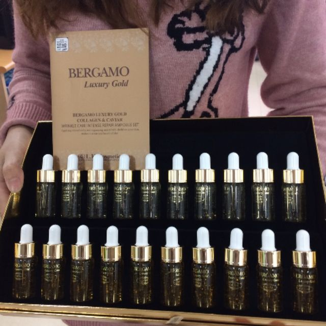 Serum Bergamo Luxury Gold Collagen & Caviar 13ml Hàn Quốc
