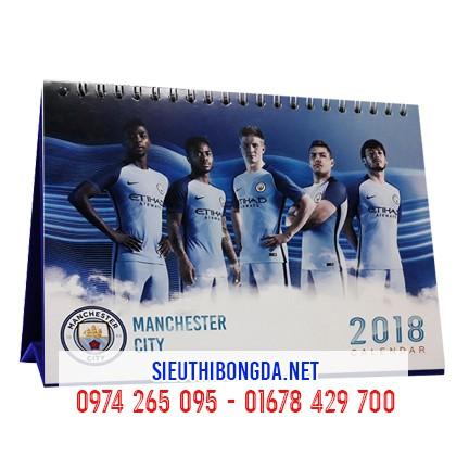 Lịch để bàn Manchester City 2018