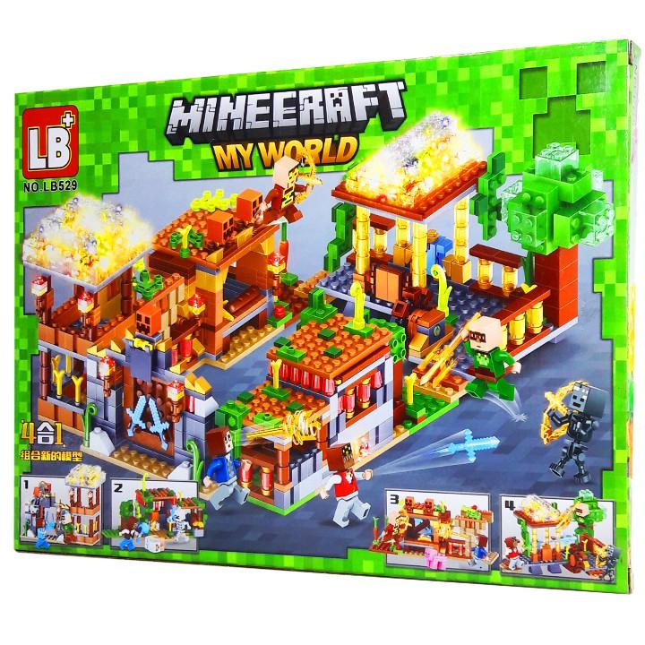 Bộ LEGO Ninjago Xếp Hình Mineecraft My World Xây Dựng Nông Trại. Gồm 256 Chi Tiết. Lego Ninjago Lắp Ráp Đồ Chơi Cho Bé.